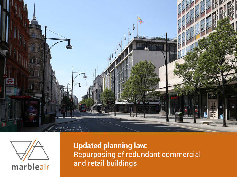Planning Law repurposing commercial and retail buildings, Oxford